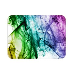 Colour Smoke Rainbow Color Design Double Sided Flano Blanket (Mini)