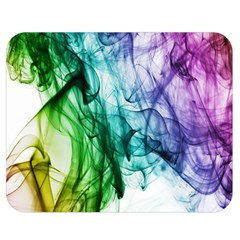 Colour Smoke Rainbow Color Design Double Sided Flano Blanket (Medium)