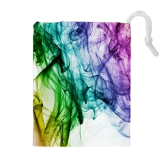 Colour Smoke Rainbow Color Design Drawstring Pouches (Extra Large)