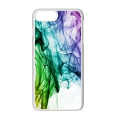 Colour Smoke Rainbow Color Design Apple iPhone 7 Plus White Seamless Case
