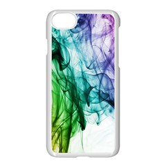Colour Smoke Rainbow Color Design Apple iPhone 7 Seamless Case (White)