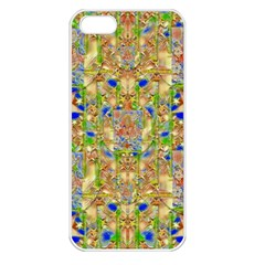 Lizard And A Skull Apple Iphone 5 Seamless Case (white) by pepitasart