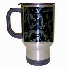 Navy Camouflage Travel Mug (silver Gray) by sifis
