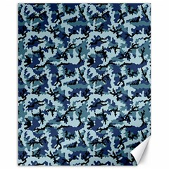 Navy Camouflage Canvas 16  X 20   by sifis