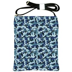 Navy Camouflage Shoulder Sling Bags by sifis