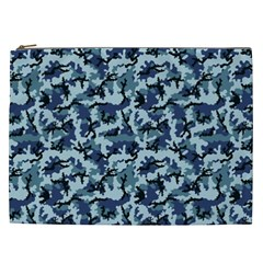 Navy Camouflage Cosmetic Bag (xxl)  by sifis