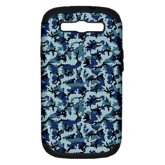 Navy Camouflage Samsung Galaxy S Iii Hardshell Case (pc+silicone) by sifis