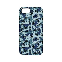 Navy Camouflage Apple Iphone 5 Classic Hardshell Case (pc+silicone) by sifis