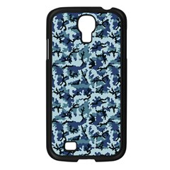 Navy Camouflage Samsung Galaxy S4 I9500/ I9505 Case (black) by sifis