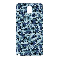 Navy Camouflage Samsung Galaxy Note 3 N9005 Hardshell Back Case by sifis