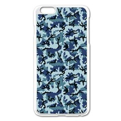 Navy Camouflage Apple Iphone 6 Plus/6s Plus Enamel White Case by sifis