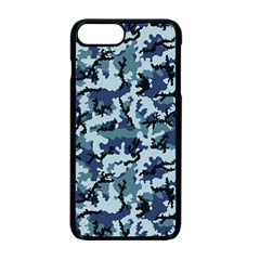 Camouflage Navy Apple Iphone 7 Plus Seamless Case (black) by sifis