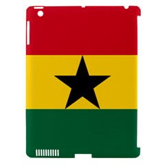 Flag Of Ghana Apple Ipad 3/4 Hardshell Case (compatible With Smart Cover) by abbeyz71