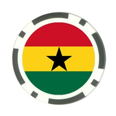 Flag Of Ghana Poker Chip Card Guard (10 Pack) by abbeyz71