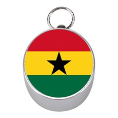 Flag Of Ghana Mini Silver Compasses by abbeyz71