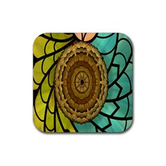 Kaleidoscope Dream Illusion Rubber Square Coaster (4 Pack)  by Amaryn4rt