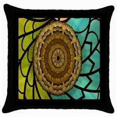 Kaleidoscope Dream Illusion Throw Pillow Case (black) by Amaryn4rt