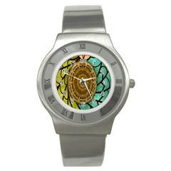 Kaleidoscope Dream Illusion Stainless Steel Watch by Amaryn4rt