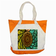Kaleidoscope Dream Illusion Accent Tote Bag by Amaryn4rt