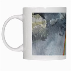 Watercolour Lighthouse Rainbow White Mugs by Amaryn4rt