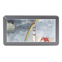 Watercolour Lighthouse Rainbow Memory Card Reader (mini) by Amaryn4rt