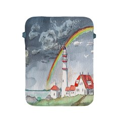 Watercolour Lighthouse Rainbow Apple Ipad 2/3/4 Protective Soft Cases by Amaryn4rt