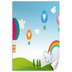 Landscape Sky Rainbow Garden Canvas 20  X 30   by Amaryn4rt