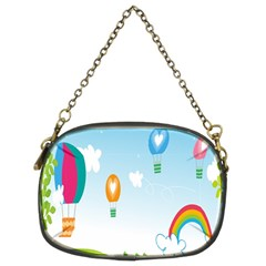 Landscape Sky Rainbow Garden Chain Purses (two Sides)  by Amaryn4rt