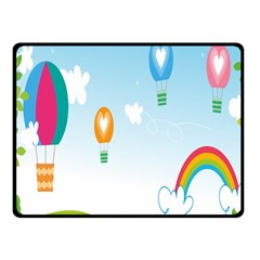 Landscape Sky Rainbow Garden Fleece Blanket (small) by Amaryn4rt