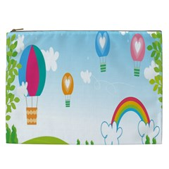 Landscape Sky Rainbow Garden Cosmetic Bag (xxl)  by Amaryn4rt