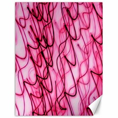 An Unusual Background Photo Of Black Swirls On Pink And Magenta Canvas 12  X 16   by Amaryn4rt