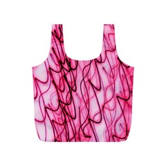 An Unusual Background Photo Of Black Swirls On Pink And Magenta Full Print Recycle Bags (s)  by Amaryn4rt