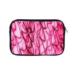 An Unusual Background Photo Of Black Swirls On Pink And Magenta Apple Macbook Pro 13  Zipper Case