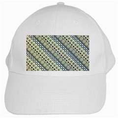Abstract Seamless Pattern White Cap by Amaryn4rt