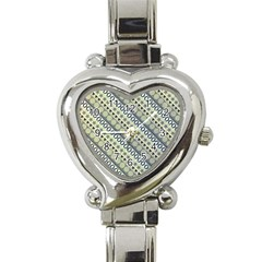 Abstract Seamless Pattern Heart Italian Charm Watch by Amaryn4rt