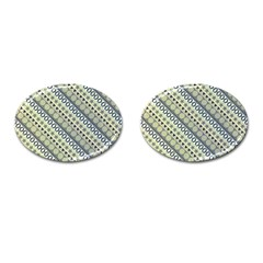Abstract Seamless Pattern Cufflinks (oval)