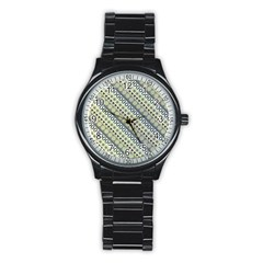 Abstract Seamless Pattern Stainless Steel Round Watch by Amaryn4rt