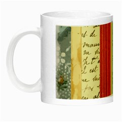 Digitally Created Collage Pattern Made Up Of Patterned Stripes Night Luminous Mugs by Amaryn4rt