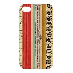 Digitally Created Collage Pattern Made Up Of Patterned Stripes Apple Iphone 4/4s Hardshell Case by Amaryn4rt