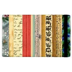 Digitally Created Collage Pattern Made Up Of Patterned Stripes Apple Ipad 3/4 Flip Case by Amaryn4rt
