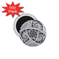 Fractal Wallpaper Black N White Chaos 1 75  Magnets (100 Pack)