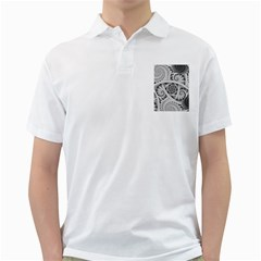 Fractal Wallpaper Black N White Chaos Golf Shirts