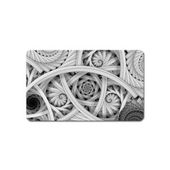 Fractal Wallpaper Black N White Chaos Magnet (name Card) by Amaryn4rt