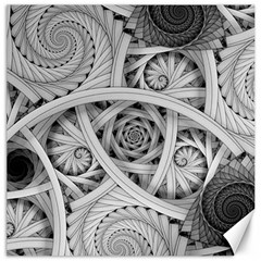 Fractal Wallpaper Black N White Chaos Canvas 12  X 12   by Amaryn4rt