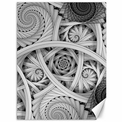 Fractal Wallpaper Black N White Chaos Canvas 36  X 48