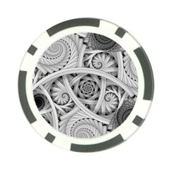 Fractal Wallpaper Black N White Chaos Poker Chip Card Guard by Amaryn4rt