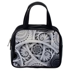 Fractal Wallpaper Black N White Chaos Classic Handbags (one Side) by Amaryn4rt