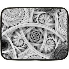 Fractal Wallpaper Black N White Chaos Double Sided Fleece Blanket (mini)