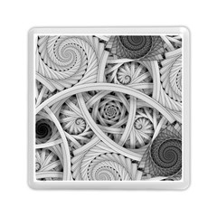Fractal Wallpaper Black N White Chaos Memory Card Reader (square)  by Amaryn4rt