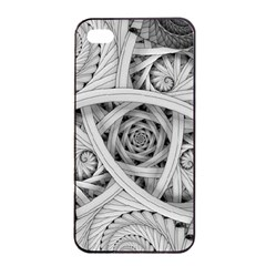 Fractal Wallpaper Black N White Chaos Apple Iphone 4/4s Seamless Case (black) by Amaryn4rt